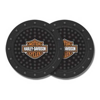 Harley-Davidson Bar & Shield Car Drink Holder Coaster, Set Of 2, Black 360 - Wisconsin Harley-Davidson
