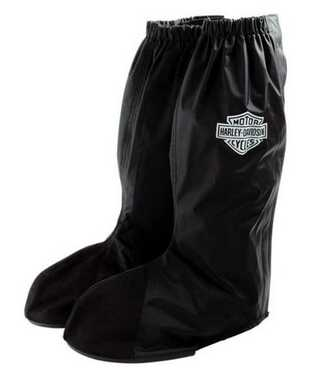 Harley-Davidson Unisex Rainwear Rain Gaitor Lug Sole Boot Cover Black 98349-07V - Wisconsin Harley-Davidson