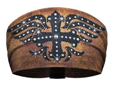 That's A Wrap Women's Knotty Band, Midnight Embellished Cowboy, Brown KB2321 - Wisconsin Harley-Davidson