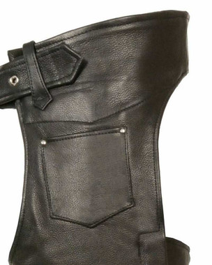 Milwaukee Leather Men's Slash Pocket Chaps w/ Removable Thermal Liner ML1103 - Wisconsin Harley-Davidson
