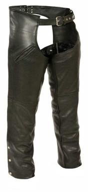 Milwaukee Leather Men's Slash Pocket Chaps w/ Removable Thermal Liner ML1103 - Wisconsin Harley-Davidson