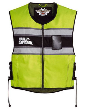 Harley-Davidson Men's Hi-Vis Yellow Riding Vest 98173-10VM - Wisconsin Harley-Davidson