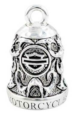 Harley-Davidson Motorcycle Ride Bell, Willie G Skull & Tribal Flames HRB074 - Wisconsin Harley-Davidson