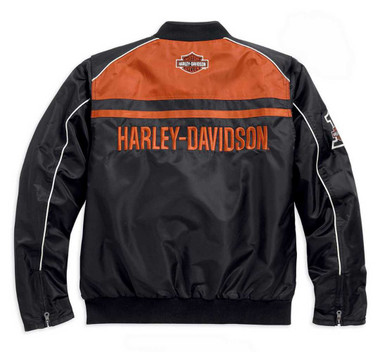 Harley-Davidson Men's Casual Jacket, Moto Ride Bar & Shield, Black 98553-15VM - Wisconsin Harley-Davidson
