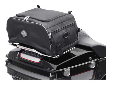 Harley-Davidson Bar & Shield Zippered Collapsible Rack Bag Black 93300009 - Wisconsin Harley-Davidson