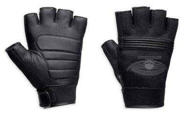 Harley-Davidson Men's Winged Skull Fingerless Gloves 98277-14VM - Wisconsin Harley-Davidson