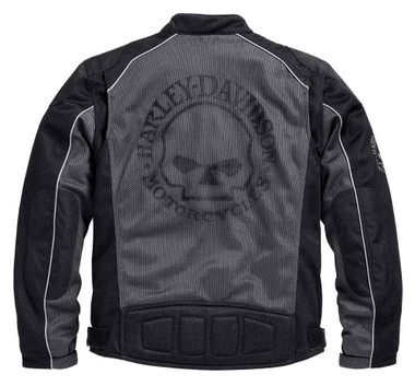 Harley-Davidson Men's Riding Mesh Jacket, Willie G. Skull, Black 98092-15VM - Wisconsin Harley-Davidson