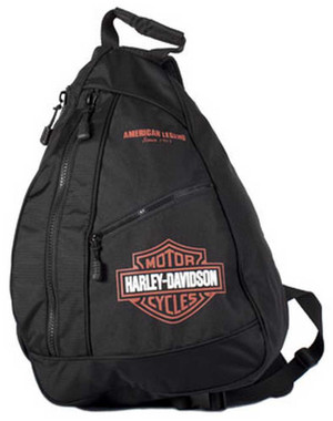 Harley-Davidson Bar & Shield Sling Backpack BP1957S-ORGBLK - Wisconsin Harley-Davidson