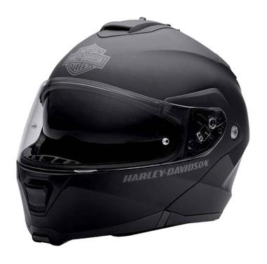 Harley-Davidson Mens Modular Helmet, Capstone Sun Shield, Matte Black 98370-15VM - Wisconsin Harley-Davidson