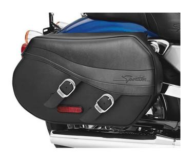 Harley-Davidson Synthetic Leather Saddlebags Black Sportster Models 90330-08 - Wisconsin Harley-Davidson