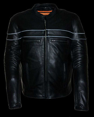 Leather King Men's Sporty Scooter Crossover Leather Jacket SH1408 - Wisconsin Harley-Davidson