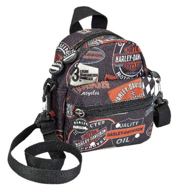 Harley-Davidson Vintage Collection Mini-Me Small Backpack, Black 99668-VIN - Wisconsin Harley-Davidson