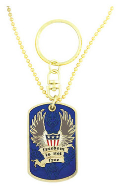 Harley-Davidson Dog Tag, Freedom Is Not Free POW-MIA Chain/Key Chain 8002817 - Wisconsin Harley-Davidson