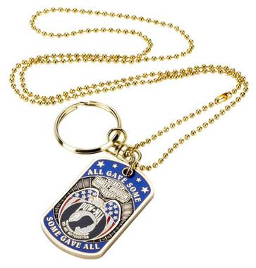 Harley-Davidson Dog Tag, Freedom Is Not Free POW-MIA Chain/Key Chain 8002817 - Wisconsin Harley-Davidson