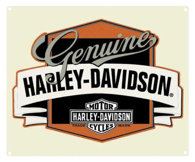 Harley-Davidson Genuine H-D Banner Tin Metal Sign 14 x 17 Inch  2010241 - Wisconsin Harley-Davidson