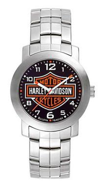 Harley-Davidson Men's Bulova Bar & Shield Wrist Watch 76A019 - Wisconsin Harley-Davidson