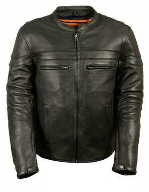 Milwaukee Leather Men's Sporty Scooter Crossover Leather Jacket ML1408 - Wisconsin Harley-Davidson