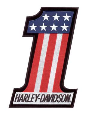 Harley-Davidson #1 Red, White & Blue X-Small Patch EM227841 - Wisconsin Harley-Davidson