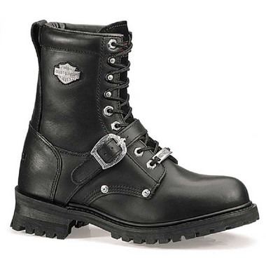 Harley-Davidson Men's Faded Glory 8-Inch Motorcycle Black Boots D91003 - Wisconsin Harley-Davidson