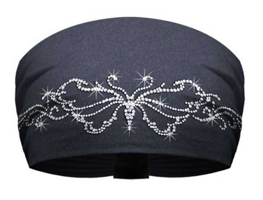 That's A Wrap Bling Knotty Band, Embellished Tribal Butterfly, Black KB3029 - Wisconsin Harley-Davidson