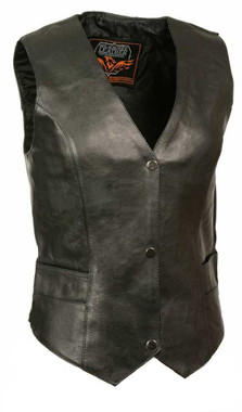 Milwaukee Leather Women's Classic Vest w/ Buffalo Snaps ML1253 - Wisconsin Harley-Davidson