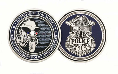 Harley-Davidson Police To Protect And Serve Challenge Coin 1.75'' 8002916 - Wisconsin Harley-Davidson