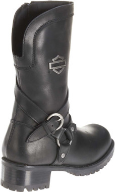 Harley-Davidson Women's Amber Black Leather 9.5-Inch Motorcycle Boots D85514 - Wisconsin Harley-Davidson