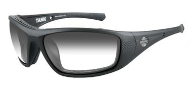 Harley-Davidson Men's Tank Sunglasses, Smoke Gray Lens/Matte Black Frame HDTAN05 - Wisconsin Harley-Davidson