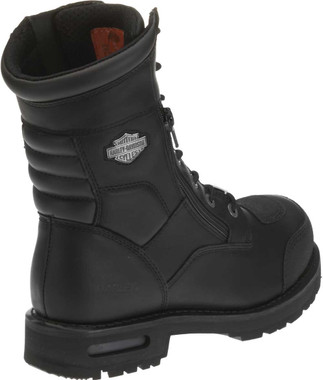 Harley-Davidson Men's Riddick 8-Inch Lace-UP Black Motorcycle Boots D98308 - Wisconsin Harley-Davidson