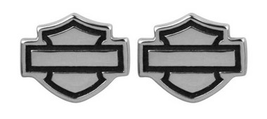 Harley-Davidson Women's Outline Bar & Shield Post Earrings HDE0285 - Wisconsin Harley-Davidson