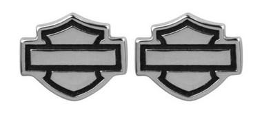 Harley-Davidson Women's Outline Bar & Shield Post Earrings HDE0285 - Wisconsin Harley-Davidson
