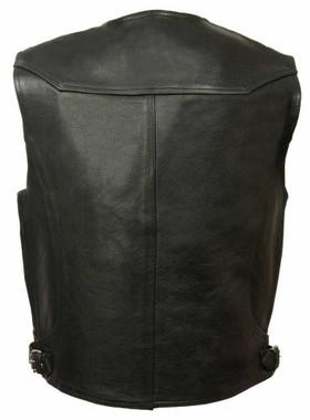 Milwaukee Leather Men's Deep Pocket Vest w/ Side Buckle ML1927 - Wisconsin Harley-Davidson