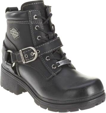 Harley-Davidson Women's Tegan 4-Inch Black Lace-Up Boots. D84424 - Wisconsin Harley-Davidson