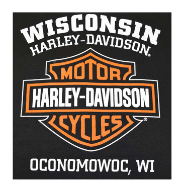 Harley-Davidson Men's Hooded Sweatshirt, Bar & Shield Zip Black Hoodie 30299142 - Wisconsin Harley-Davidson