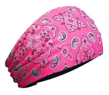 That's A Wrap Women's Foil Bandana Hot Pink Paisley Knotty Band, Pink KB1625 - Wisconsin Harley-Davidson