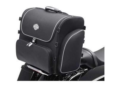 Harley-Davidson Bar & Shield Zippered Rolling Touring Bag Black Nylon 93300008 - Wisconsin Harley-Davidson