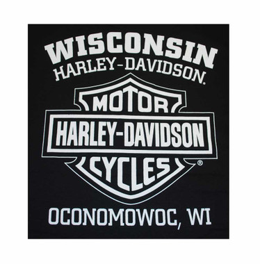 Harley-Davidson Men's Knucklehead Engine Authentic T-Shirt Black 30298302 - Wisconsin Harley-Davidson