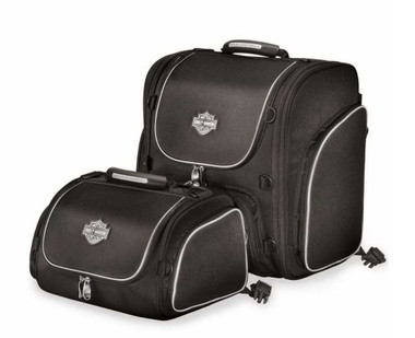 Harley-Davidson Bar & Shield Zippered Touring Luggage System Black 93300003 - Wisconsin Harley-Davidson
