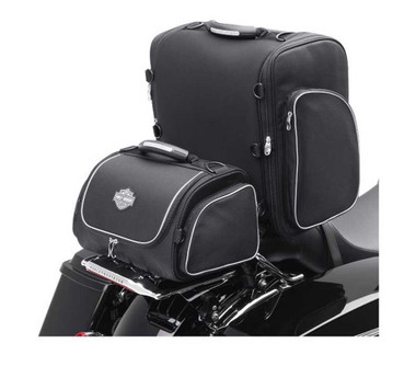 Harley-Davidson Bar & Shield Zippered Touring Luggage System Black 93300003 - Wisconsin Harley-Davidson