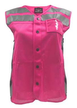 Missing Link Women's Meshed Up Expandable Safety Vest (Pink/Fuchsia) MUWP - Wisconsin Harley-Davidson