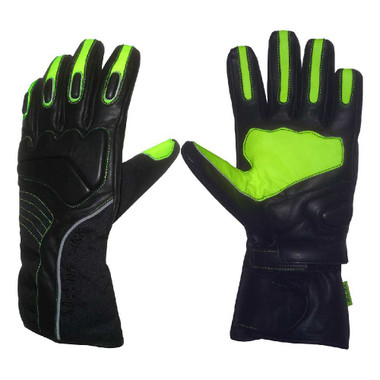 Missing Link Cold Duty Visability Gloves Black/Hi-Viz Green CDGG - Wisconsin Harley-Davidson