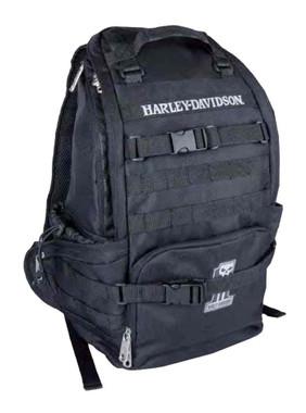 Harley-Davidson Night Ops Stellar Backpack, #1 Skull Patch Black 99214 - Wisconsin Harley-Davidson
