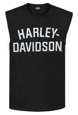 Harley-Davidson Men's Heritage H-D Script Muscle Shirt Tank Top, Black 30296631 - Wisconsin Harley-Davidson