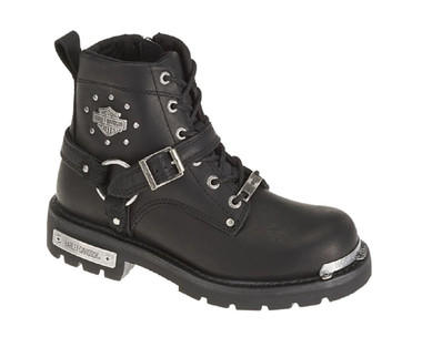 Harley-Davidson Women's Becky 5.5-Inch Black Leather Motorcycle Boots. D87048 - Wisconsin Harley-Davidson