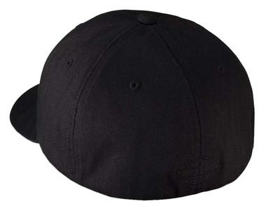 Harley-Davidson Men's Rubber Skull Patch Stretch Cap Hat, Black/Grey. 99409-16VM - Wisconsin Harley-Davidson