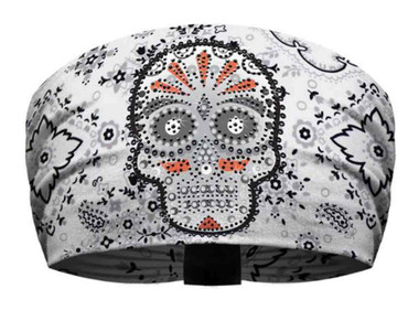 That's A Wrap Women's Premium Knotty Band, Embellished Eye Candy, White KB1536 - Wisconsin Harley-Davidson