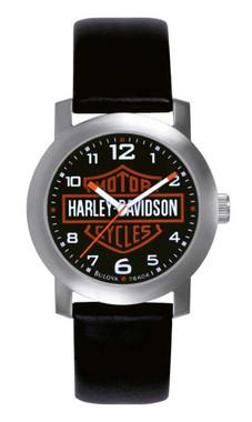 Harley-Davidson Men's Bar & Shield Leather Wrist Watch 76A04 - Wisconsin Harley-Davidson