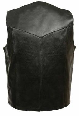 Leather King Men's Classic Snap Front Biker Vest SH1310 - Wisconsin Harley-Davidson