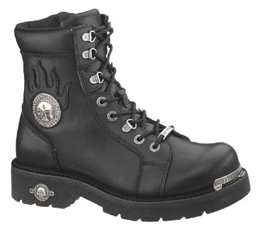 Harley-Davidson Men's Diversion Skull 6-Inch Lace-Up Motorcycle Boots D94169 - Wisconsin Harley-Davidson