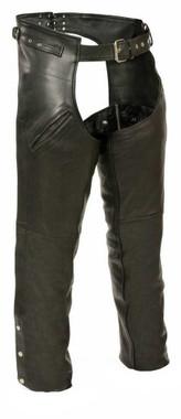 Leather King Slash Pocket Chaps w/ Side Set Gun Holster Strap SH1123 - Wisconsin Harley-Davidson